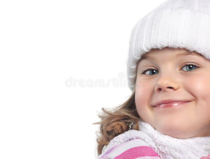 冬天衣裳的女孩 免版税库存图片