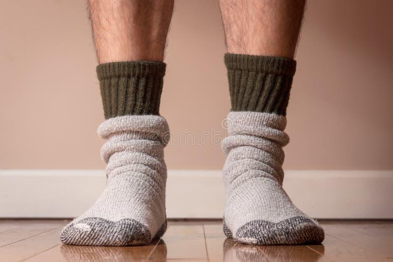 冬天袜子的时刻 免版税库存图片
