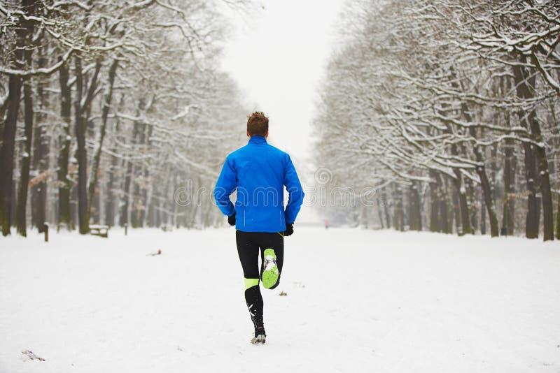 冬天跑步 库存照片