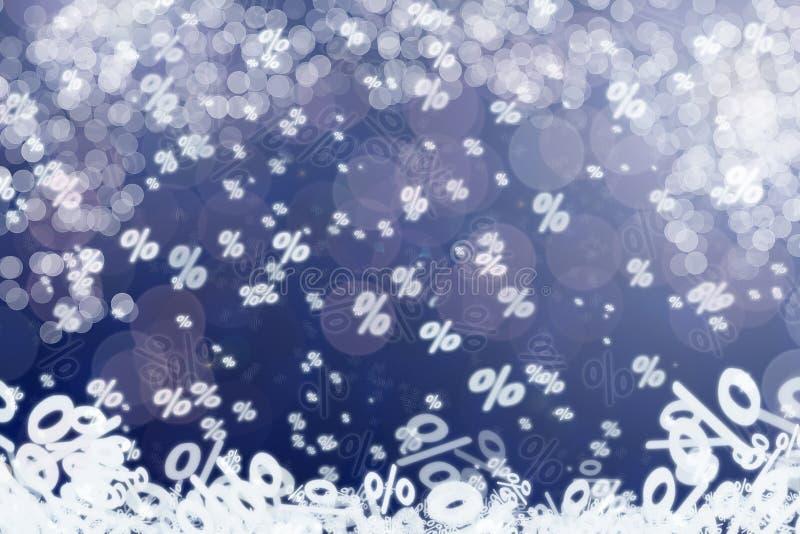 冬天销售概念性背景 免版税库存照片