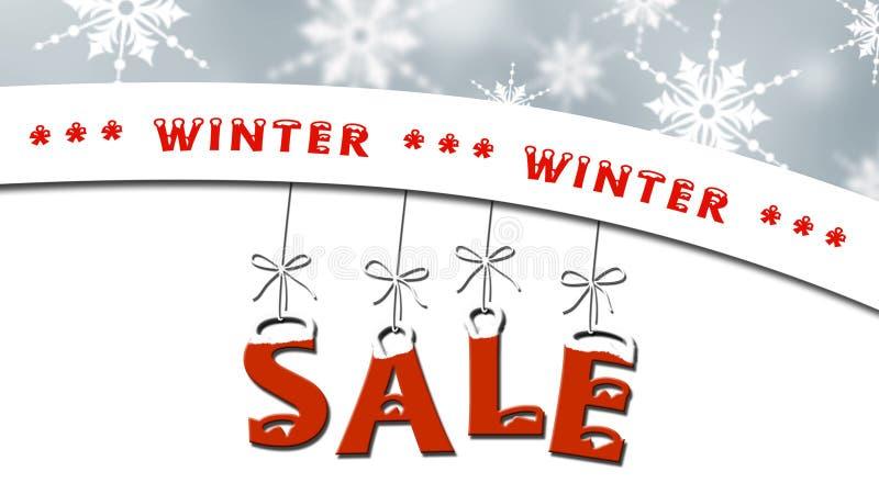 冬天销售-企业销售概念 库存例证