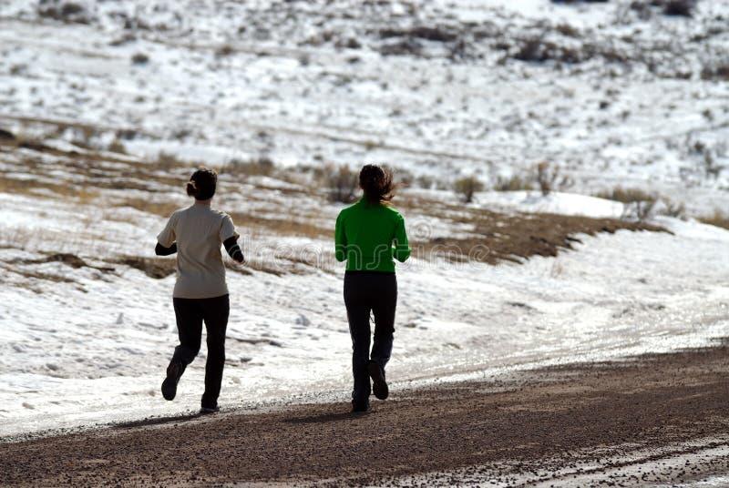 冬天锻炼 免版税库存照片