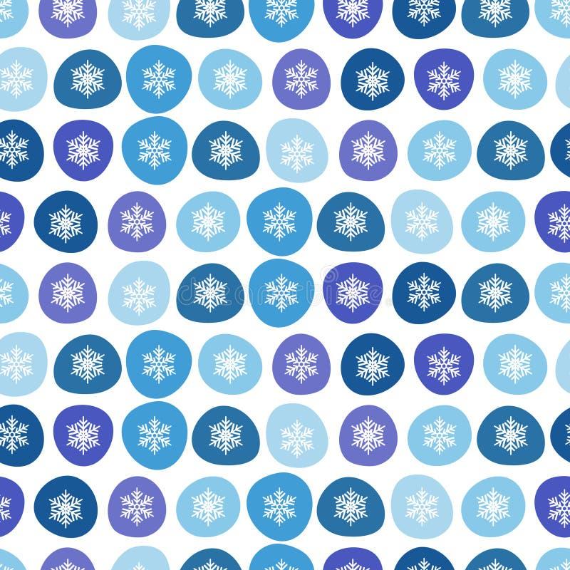 冬天雪花装饰无缝。