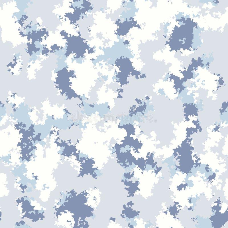 冬天颜色塑造camo设计 数字无缝的伪装样式传染媒介 皇族释放例证