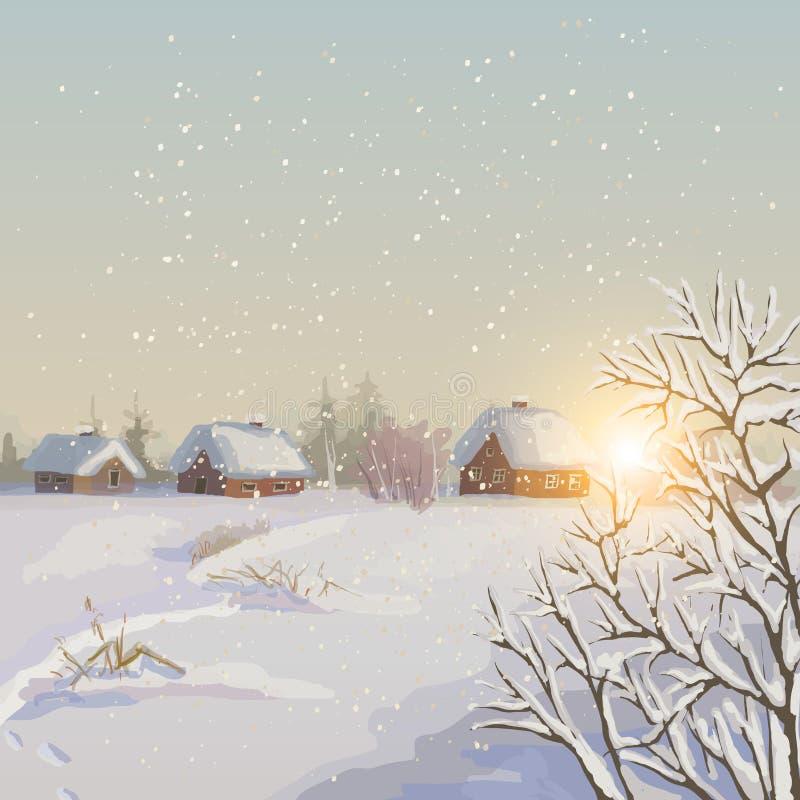 冬天风景。 皇族释放例证