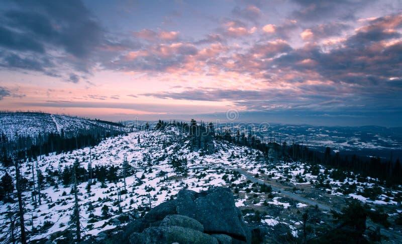 冬天风景在巴伐利亚, Bermany 库存图片