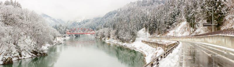 冬天风景日本 库存照片