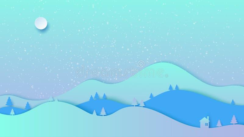 冬天风景背景资料艺术样式 皇族释放例证