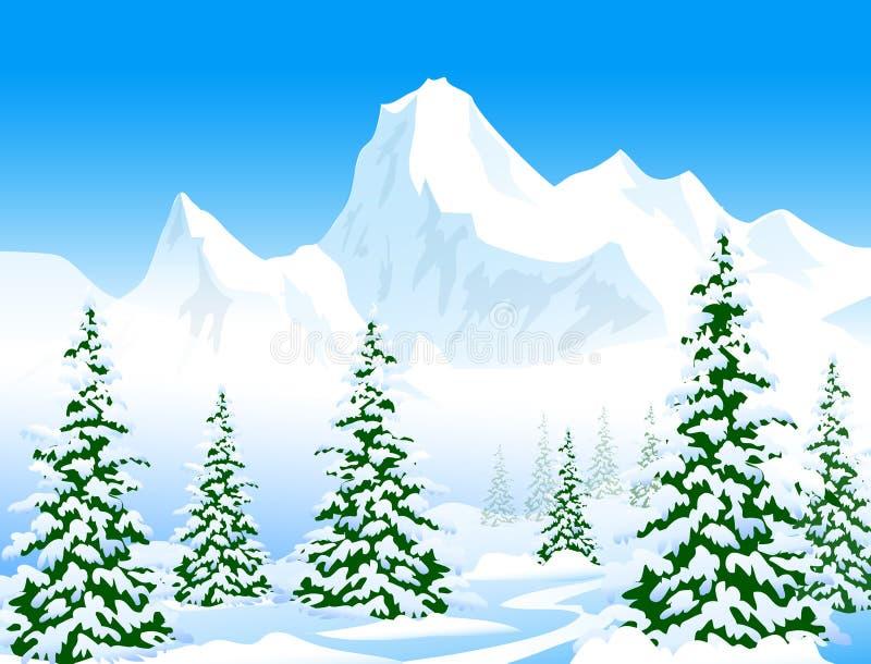 冬天风景-传染媒介Ilustration 皇族释放例证