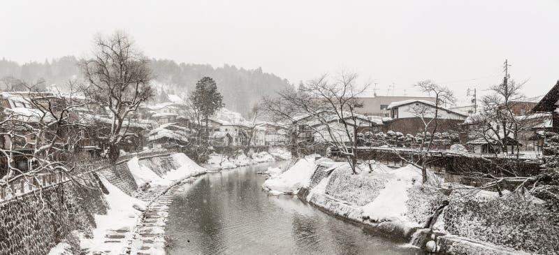 冬天高山市全景 库存图片