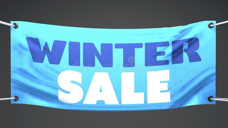 冬天,横幅销售  向量例证