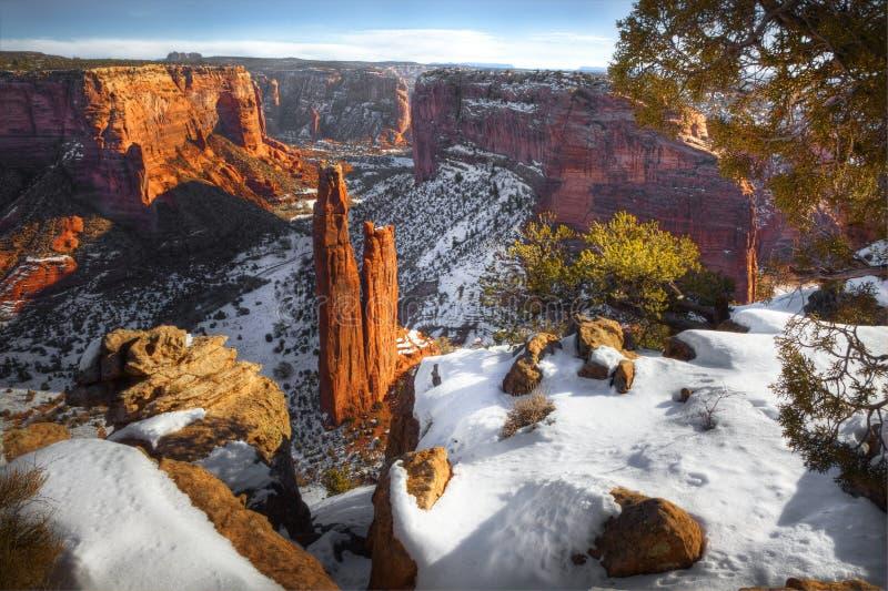 冬天, Canyon de Chelly国家历史文物,亚利桑那 库存图片