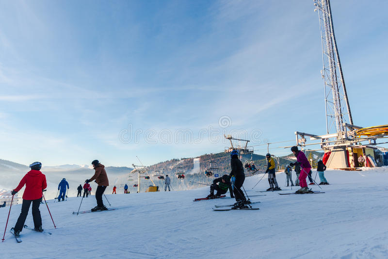 冬天滑雪 免版税图库摄影