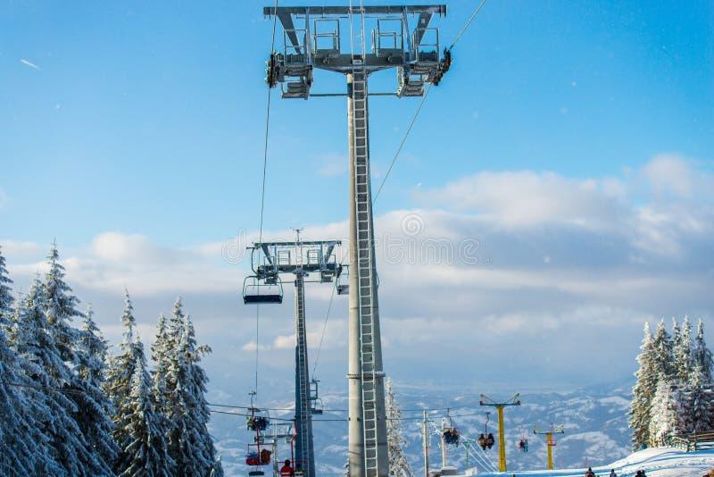 冬天滑雪 图库摄影