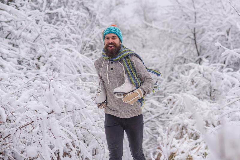 冬季体育和休息,圣诞节 免版税库存照片