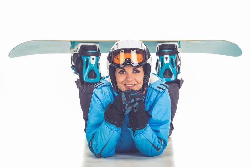 冬季体育,女孩 免版税库存照片