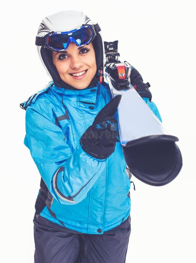 冬季体育,女孩 库存照片