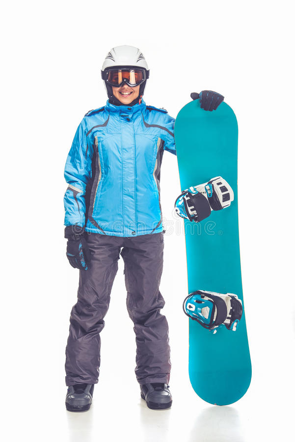 冬季体育,女孩 免版税库存图片