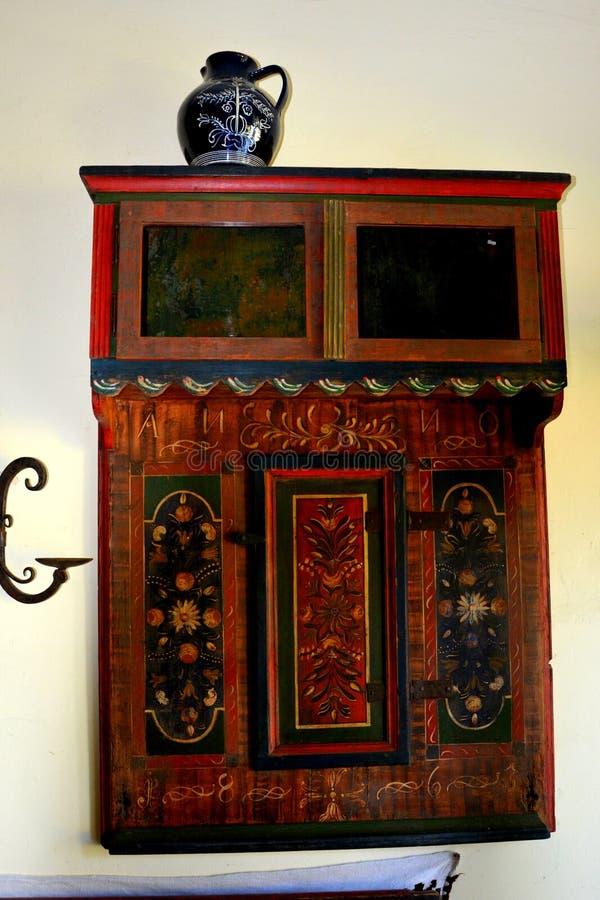 冯Brukenthal Palace男爵博物馆在阿夫里格,特兰西瓦尼亚 图库摄影