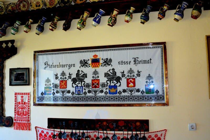 冯Brukenthal Palace男爵博物馆在阿夫里格,特兰西瓦尼亚 库存照片