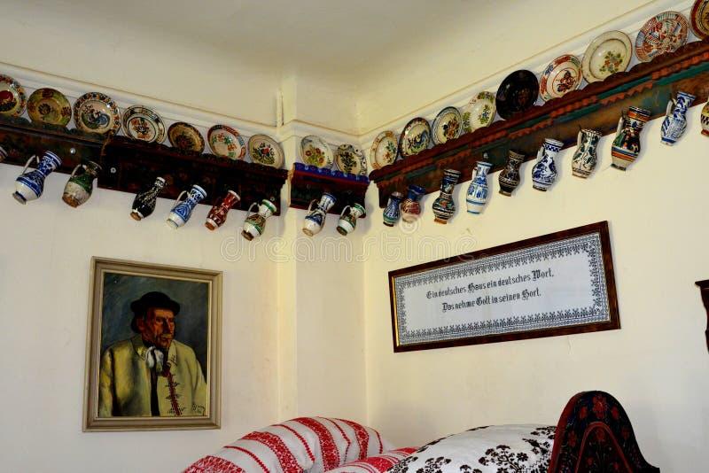 冯Brukenthal Palace男爵博物馆在阿夫里格 图库摄影