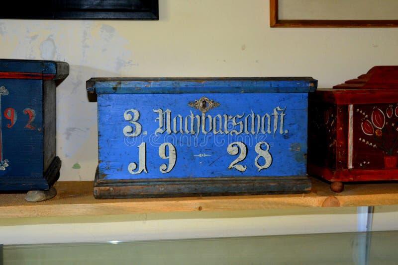 冯Brukenthal Palace男爵的博物馆在阿夫里格,特兰西瓦尼亚 免版税库存照片