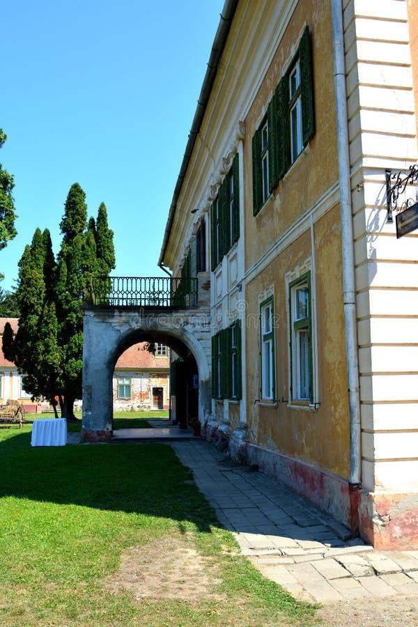 冯Brukenthal Palace男爵的博物馆在阿夫里格,特兰西瓦尼亚 图库摄影