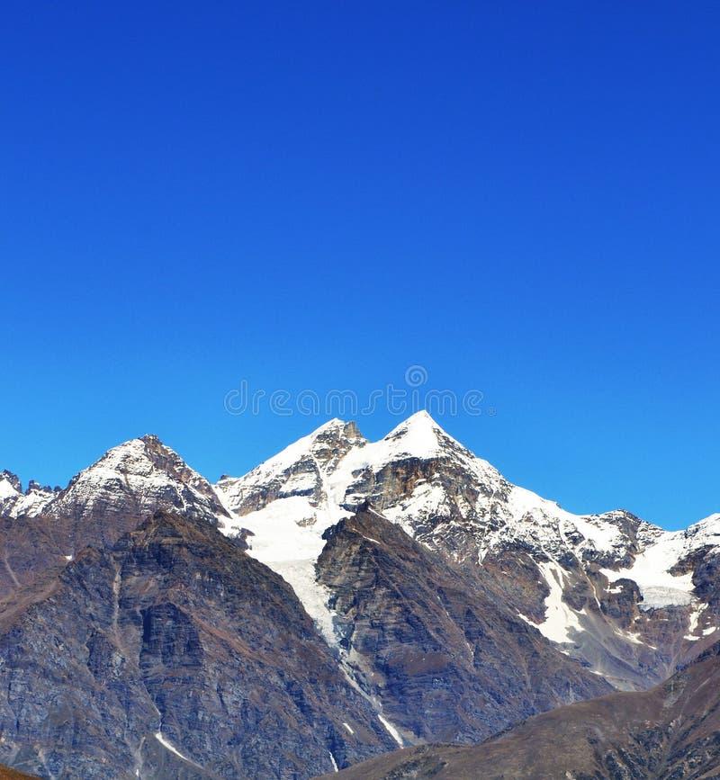 冰冷的山 库存照片