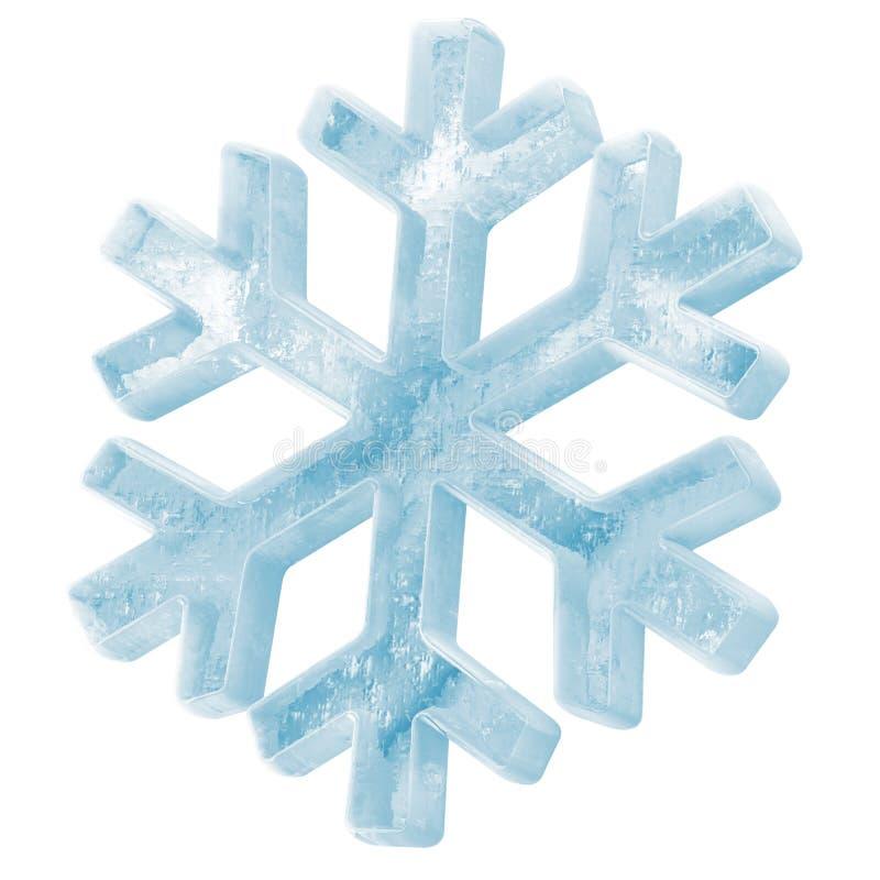 冰冷的雪花图标 皇族释放例证