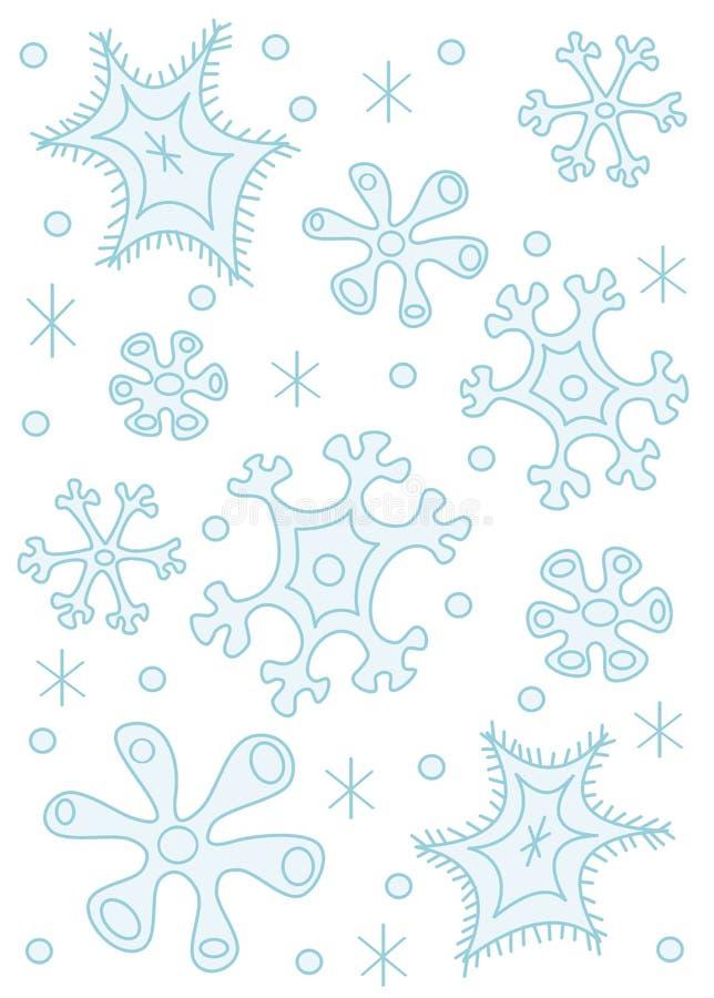 冰冷的雪花 向量例证