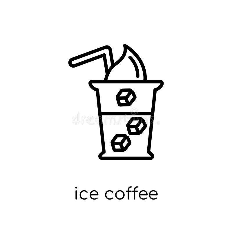 冰冻咖啡象  向量例证