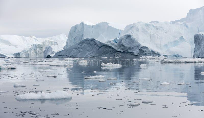 冰和地球的极区冰山  图库摄影