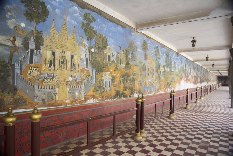 结冰在王宫金边柬埔寨 免版税库存照片