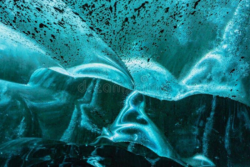冰墙壁的背景纹理  免版税库存照片