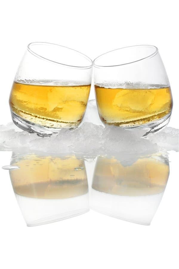 冰威士忌酒 免版税库存图片