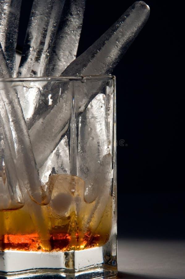 冰威士忌酒 免版税库存照片