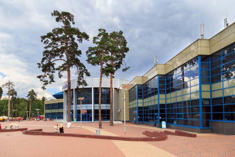 冰宫殿Balashikha竞技场 Balashikha,俄罗斯 图库摄影