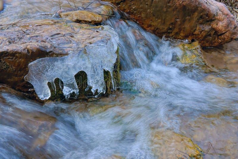 冰小河 库存照片
