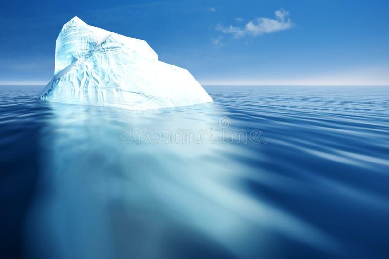 冰山。 皇族释放例证
