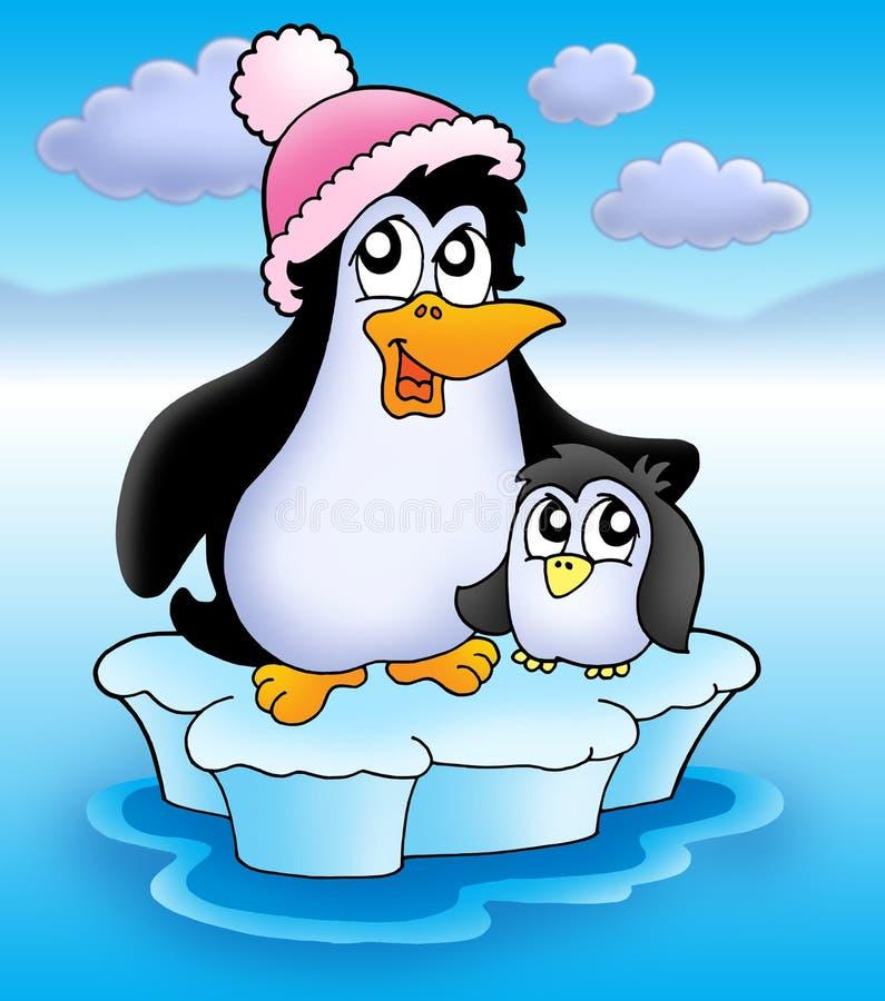 冰山企鹅二 库存例证
