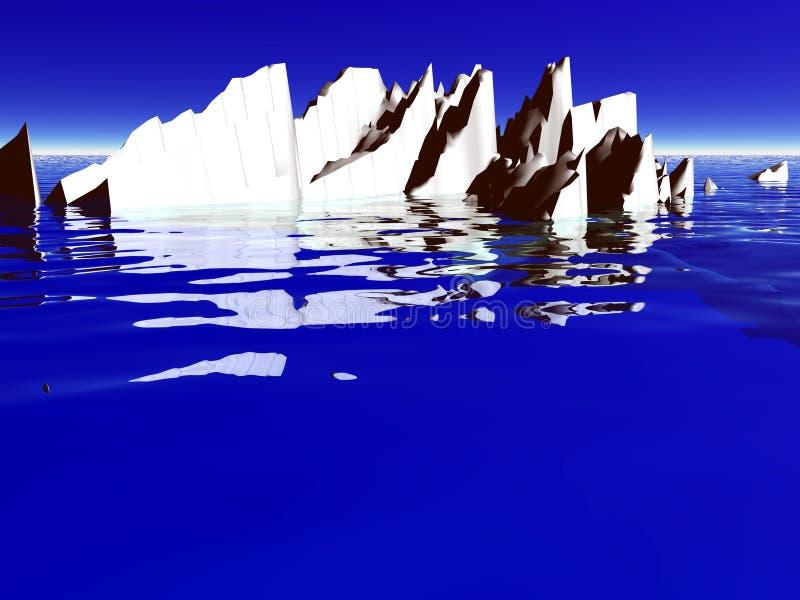 冰山冰 皇族释放例证