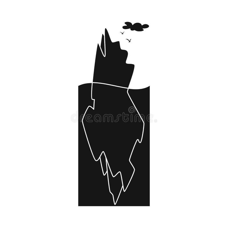 冰山和冰标志被隔绝的对象  冰山和海股票简名的汇集网的 皇族释放例证