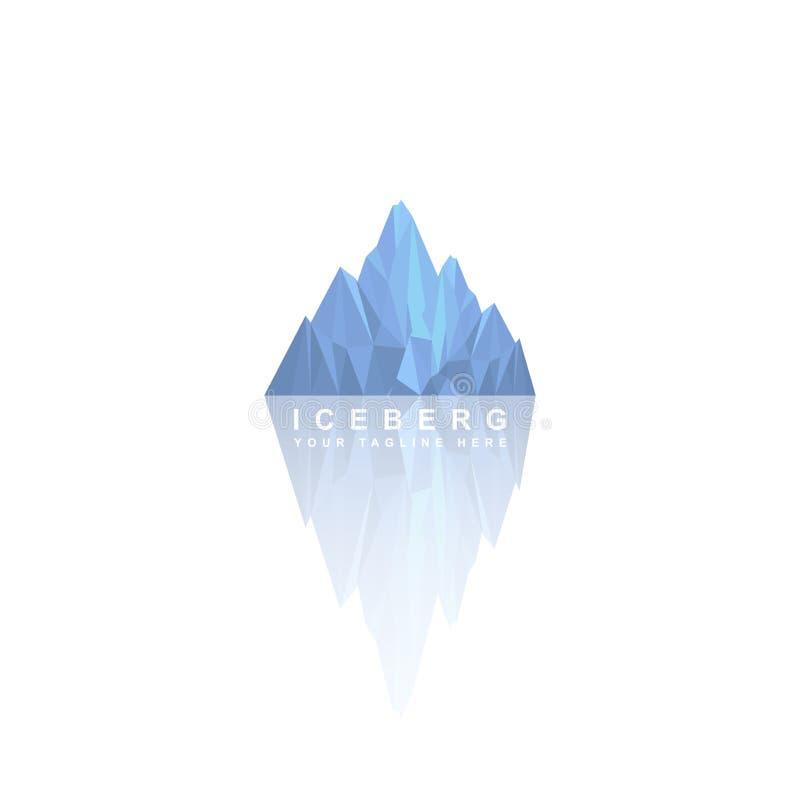 冰山商标设计,传染媒介模板 皇族释放例证