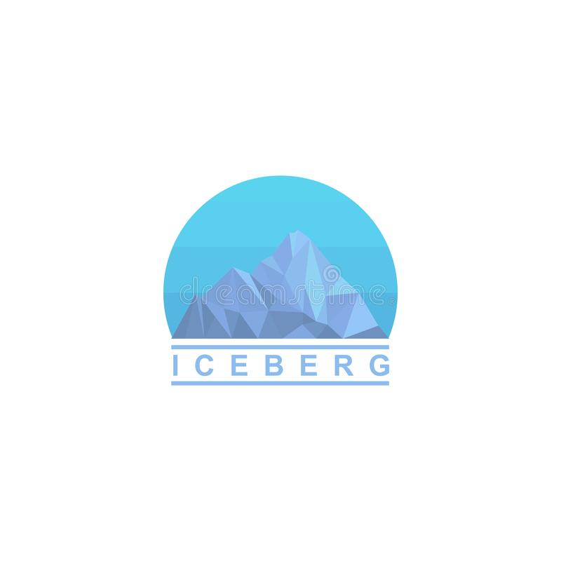 冰山商标设计,传染媒介象 皇族释放例证