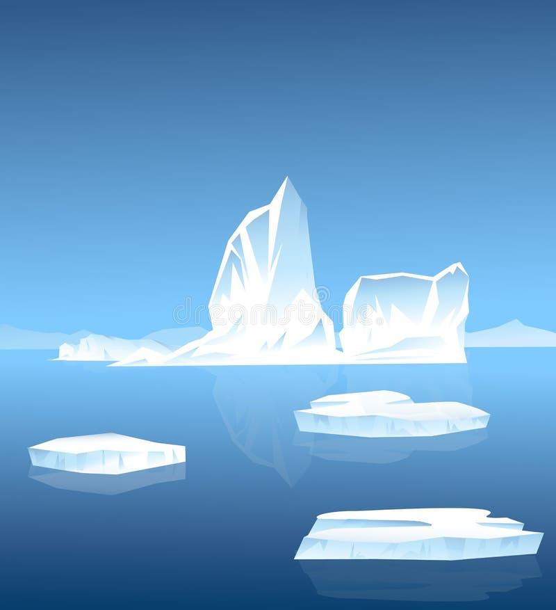 冰山在南极洲 皇族释放例证