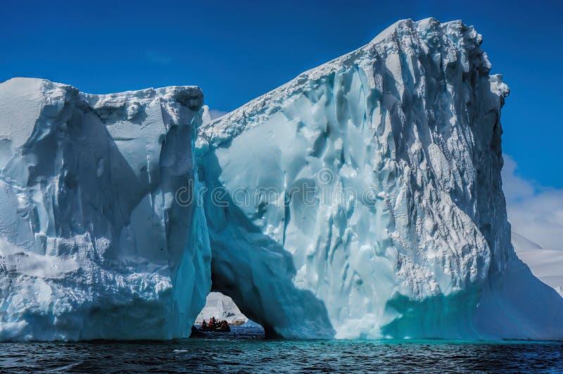 冰山在南极洲 免版税图库摄影