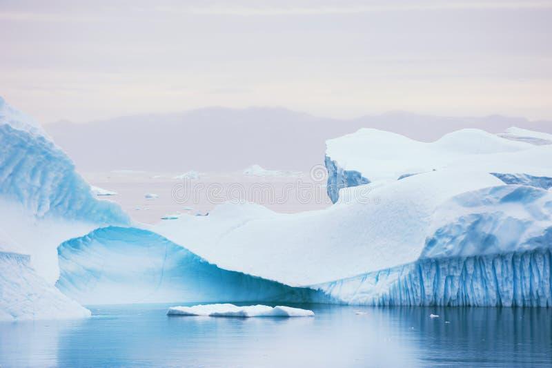 冰山在格陵兰 免版税图库摄影