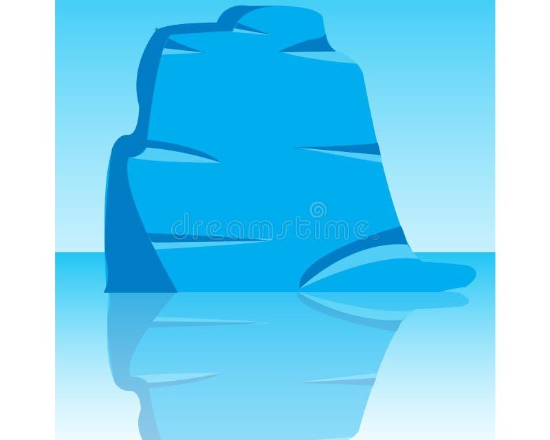 冰山在海洋 向量例证