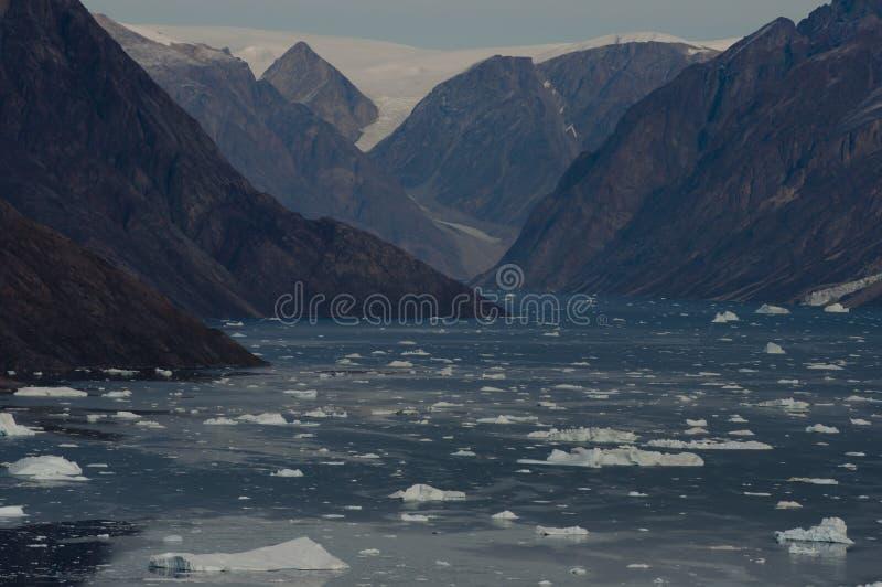 冰山景象 免版税库存照片