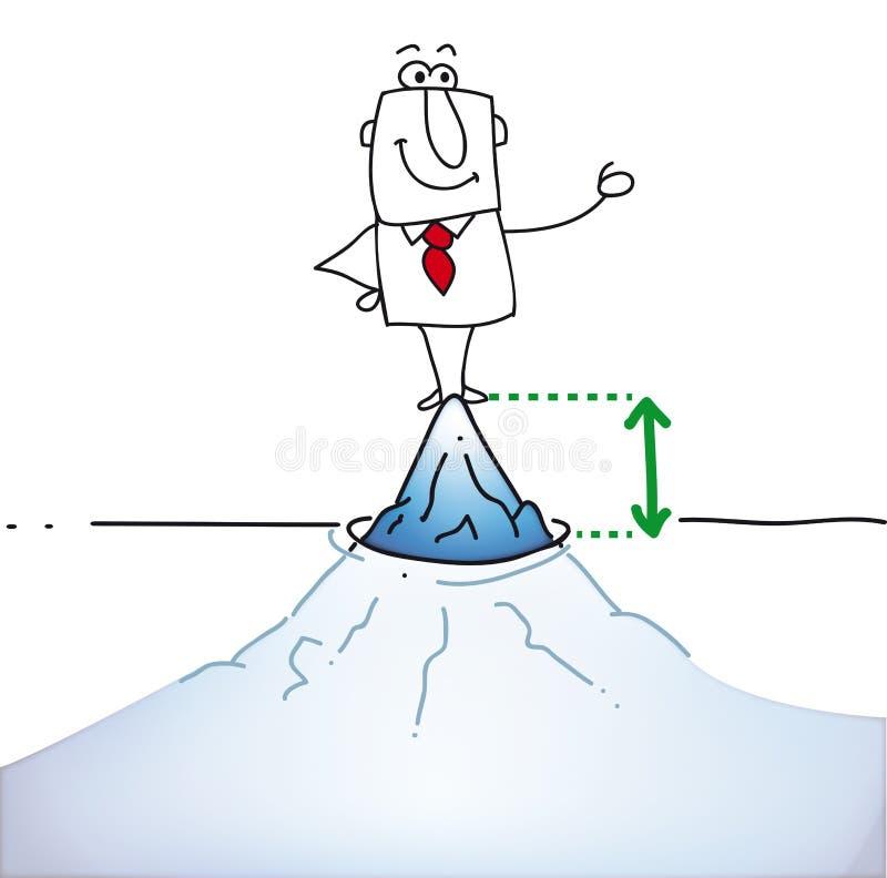 冰山的上面 向量例证